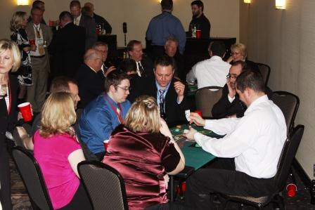 full size blackjack table seating 7 players